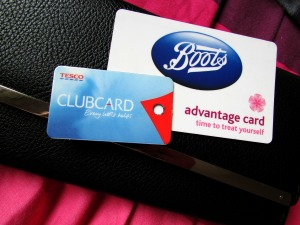 Boots Advantage Card and Tesco Clubcard